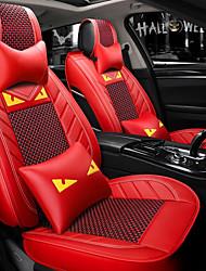 preiswerte -ODEER Autositzbezüge Sitzbezüge Rote Textil Normal for Universal Alle Jahre Alle Modelle