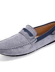 abordables -Homme Chaussures Croûte de Cuir / Polyuréthane Automne Chaussures de plongée Mocassins et Chaussons+D6148 Gris / Marron / Kaki