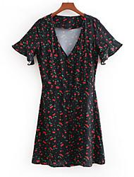 abordables -Mujer Línea A Vestido Fruta Sobre la rodilla