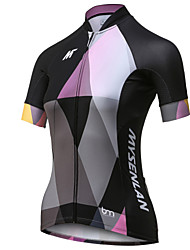 cheap -Mysenlan Women's Short Sleeve Cycling Jersey - Black Bike Jersey, Quick Dry, Breathable Polyester / Expert / Advanced Sewing Techniques / Laser-cut Sleeves / Italy Imported Ink / Breathable Armpits