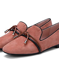 cheap -Women's Shoes Sheepskin Summer Comfort / Basic Pump Loafers & Slip-Ons Platform Black / Pink