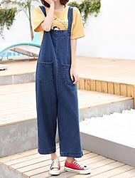 economico -Per donna Cotone Jeans / Tuta da lavoro Pantaloni - Tinta unita