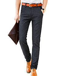 cheap -Men's Simple / Basic Suits / Chinos Pants - Solid Colored