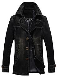 Недорогие -Муж. Спорт Джинсовая куртка Современный стиль / Длинный рукав