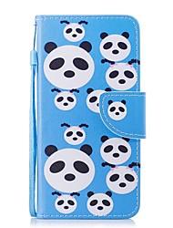 economico -Custodia Per Huawei Honor 7X A portafoglio / Porta-carte di credito / Con chiusura magnetica Integrale Panda Resistente pelle sintetica per Honor 7X