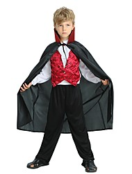 cheap -Cosplay Costume Boys' Halloween / Carnival / Children's Day Festival / Holiday Halloween Costumes Black Solid Colored / Halloween Halloween