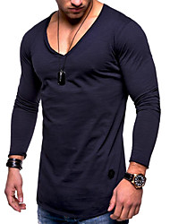 baratos -Homens Camiseta Moda de Rua / Exagerado Sólido