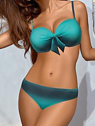 billige -Dame Med stropper Bikini - Farveblok