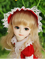 cheap -OuenElfs Ball-joined Doll / BJD / Blythe Doll Baby Girl 10 inch Full Body Silicone - High-Temperature Resistant Fibre Wigs Kid's Girls' Gift