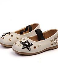 abordables -Fille Chaussures Polyuréthane Printemps été Confort / Chaussures de Demoiselle d'Honneur Fille Ballerines Marche Billes pour Adolescent Blanc / Marron / Rose