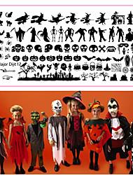 abordables -10 pcs Bouts D'ongles Artificiels Kit Nail Art Outil d'estampage à ongles Modèle Types multiples / Noël Manucure Manucure pédicure Halloween / Noël