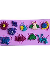 Недорогие -Инструменты для выпечки силикагель Милый / 3D Торты Животный принт Формы для пирожных 1шт