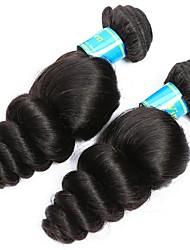 baratos -2 pacotes Cabelo Brasileiro Ondulação Larga Cabelo Virgem Cabelo Humano Ondulado 8-30 polegada Tramas de cabelo humano Fabrico à Máquina Melhor qualidade / 100% Virgem Natural Extensões de cabelo