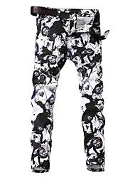 cheap -Men's Street chic Chinos Pants - Geometric Black & White, Print