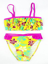 baratos -Bébé Para Meninas Floral / Estampa Colorida Roupa de Banho