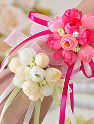 Недорогие -Свадебные цветы Букетик на запястье Свадьба / Вечерние Ткань 0-10 cm