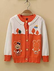 cheap -Kids / Toddler Girls' Active Print Sleeveless / Long Sleeve Cotton Sweater & Cardigan