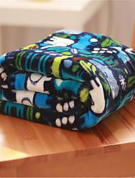 Недорогие -Коралловый флис, Пигментная печать Геометрический принт Хлопок / полиэфир одеяла