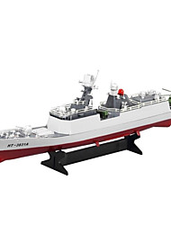 Недорогие -Лодка на радиоуправлении HT-3831A Пластик каналы 6 km/h КМ / Ч