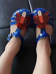 baratos -Para Meninas Sapatos PVC Verão Plástico Sandálias Velcro para Bébé Amarelo / Vermelho / Azul