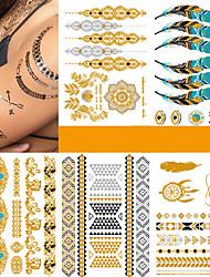 Недорогие -5 pcs Временные тату Временные татуировки Мода Панк Искусство тела Корпус / рука / Стикер татуировки