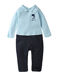 cheap -Baby Boys' Active Solid Colored Long Sleeve Linen Overall & Jumpsuit / Toddler