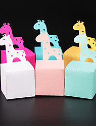 Недорогие -Кубический Розовая бумага Фавор держатель с Узоры / принт Коробочки / Подарочные коробки - 50 шт