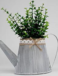 baratos -Flores artificiais 1 Ramo Clássico Rústico Vaso Flor de Mesa