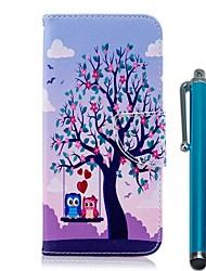Недорогие -Кейс для Назначение Nokia Nokia 5.1 / Nokia 3.1 Кошелек / Бумажник для карт / со стендом Чехол Сова Твердый Кожа PU для Nokia 8 / Nokia 6 2018 / Nokia 5.1