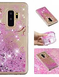 ieftine -Maska Pentru Samsung Galaxy S9 Plus / S9 Scurgere Lichid / Model / Luciu Strălucire Capac Spate Luciu Strălucire / Floare Moale TPU pentru S9 / S9 Plus / S8 Plus