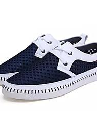 cheap -Men's Mesh / PU(Polyurethane) Summer Comfort Sneakers Dark Blue / Yellow / Light Brown