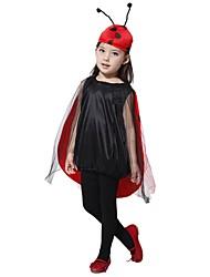 baratos -Fantasias Roupa Para Meninas Dia Das Bruxas / Carnaval / Dia da Criança Festival / Celebração Trajes da Noite das Bruxas Preto Sólido / Halloween Dia Das Bruxas