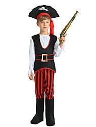 Недорогие -Пираты Костюм Мальчики Дети Хэллоуин Хэллоуин Карнавал День детей Фестиваль / праздник Инвентарь Черный Однотонный Halloween