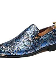Недорогие -Муж. Официальная обувь Искусственный мех Наступила зима Мокасины и Свитер Черный / Черный / Синий / Свадьба / Для вечеринки / ужина