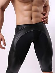 cheap -Men's Shorties & Boyshorts Panties / Boxer Briefs Patchwork Mid Waist