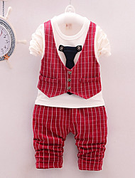 cheap -Baby Boys' Black & White Check Long Sleeve Clothing Set