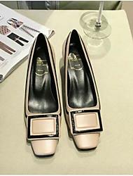abordables -Femme Chaussures Cuir Nappa Eté Confort Mocassins et Chaussons+D6148 Talon Bas Bout fermé Blanc / Noir / Rose