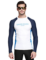 cheap -SBART Men's Diving Rash Guard SPF50, UV Sun Protection, Quick Dry Chinlon / Elastane Long Sleeve Swimwear Beach Wear Sun Shirt / Top Classic Swimming / Diving / Surfing / Breathable / Breathable