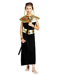 Недорогие -фараон Костюм Девочки Подростки Хэллоуин Хэллоуин Карнавал День детей Фестиваль / праздник Полиэстер Инвентарь Черный Однотонный Halloween