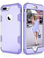 Недорогие -Кейс для Назначение Apple iPhone X / iPhone 8 Защита от удара Чехол Однотонный Твердый ПК для iPhone X / iPhone 8 Pluss / iPhone 8