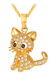 cheap -Women's Long Pendant Necklace - Cat Fashion Gold, Silver 55 cm Necklace Jewelry 1pc For Gift, Daily