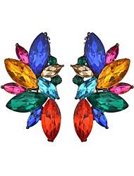 abordables -Boucles d'oreille puces oreilles Femme Lustre dames Branché Bijoux Blanc Arc-en-ciel pour Mascarade Vacances 1 paire