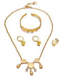 cheap -Women's Tassel / Coin Jewelry Set - Luxury, Bohemian, Sweet Include Cuff Bracelet / Hoop Earrings / Pendant Necklace Gold For Birthday / Gift / Ring