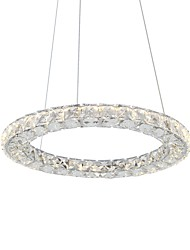 cheap -UMEI™ Circular Pendant Light Ambient Light - Crystal, 110-120V / 220-240V, Warm White / White, LED Light Source Included