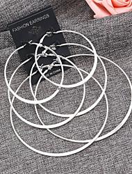 Недорогие -Жен. Толстая цепь серьги шарика - Шарообразные Художественный, Простой, Мода Серый / Золотой Назначение Повседневные / Официальные / 3 пары