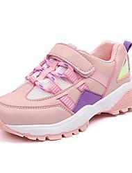 Недорогие -Девочки Обувь Полиуретан Наступила зима Удобная обувь Кеды Беговая обувь На крючках для Для подростков Белый / Черный / Розовый