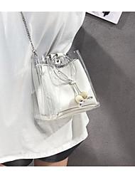 baratos -Mulheres Bolsas PVC Bolsa de Ombro Ziper Rosa / Marron / Khaki