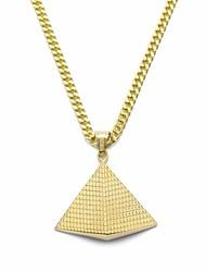 cheap -Men's Cuban Link / 3D Pendant Necklace / Chain Necklace - Titanium Steel, Stainless Tower Stylish, Unique Design, European Gold 70 cm Necklace 1pc For Gift, Street