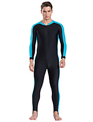 cheap -SBART Men's Rash Guard Dive Skin Suit Quick Dry, Breathable, Comfortable Nylon Full Body Swimwear Beach Wear Solid Colored Front Zip Watersports / High Elasticity