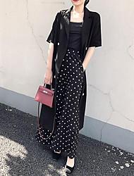 abordables -Mujer Chic de Calle / Sofisticado Recto Vestido - Lazo / Acordonado, Un Color Midi